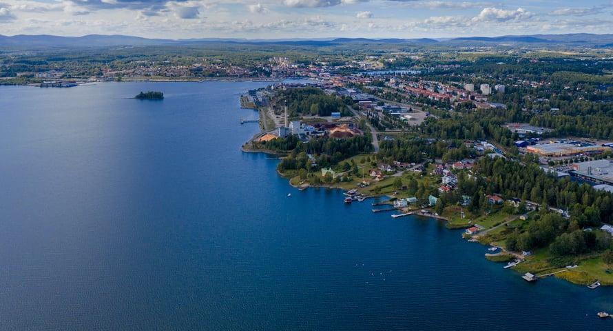 Hexatronic-factory-Sweden-Hudiksvall-aerial-view
