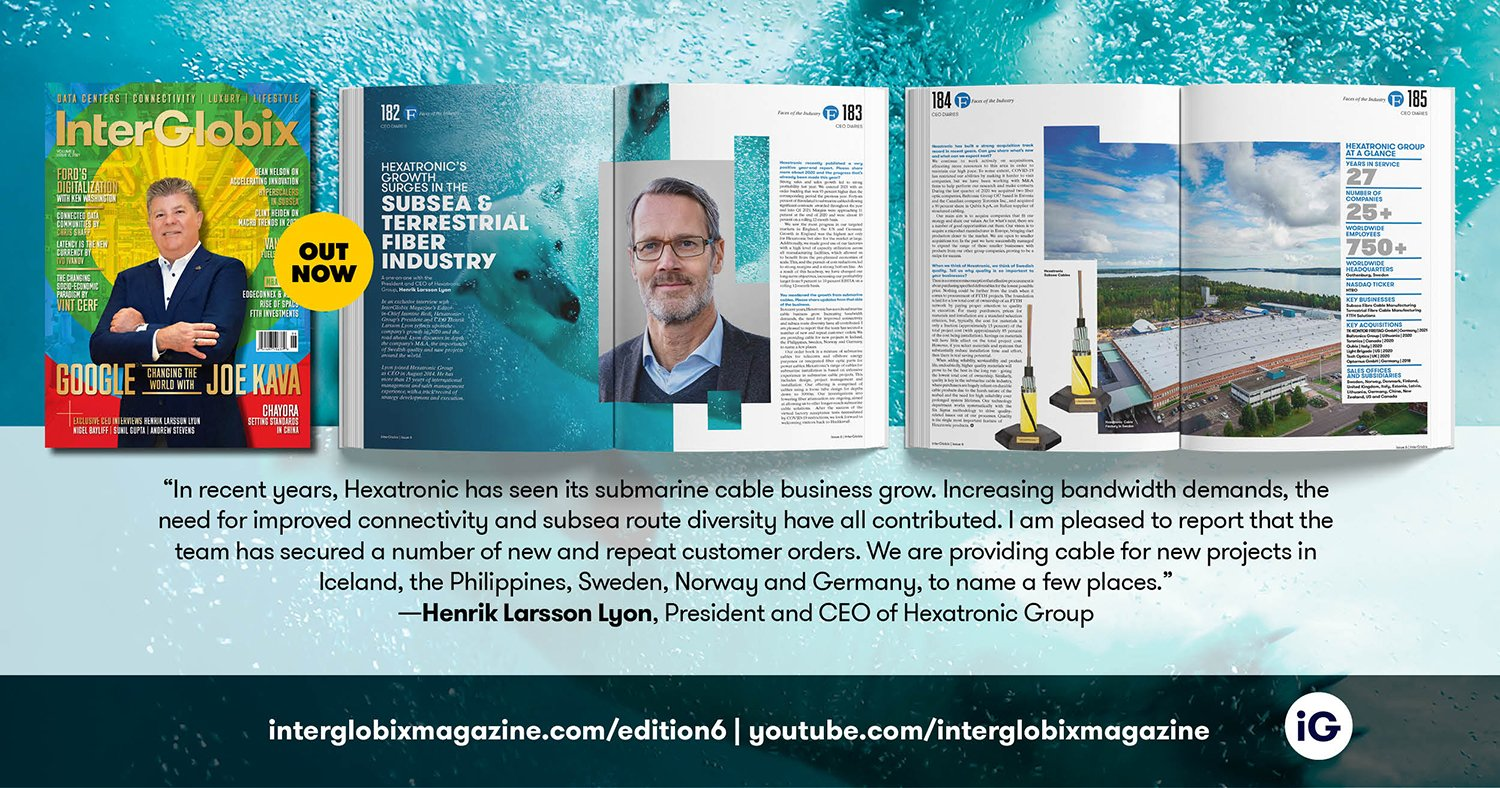 Hexatronic featured in the 6th edition of InterGlobix Magazine