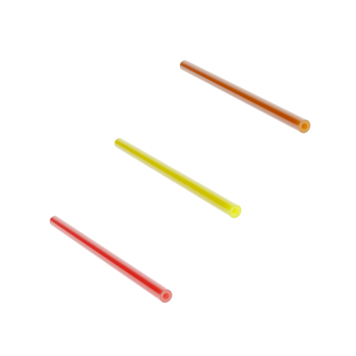 Three microducts in orange, yellow and red